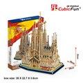 Кэндис го CubicFun DIY 3D бумаги головоломки игрушки строительство соберите игры модель собора Церкви Испания Sagrada Familia MC153h
