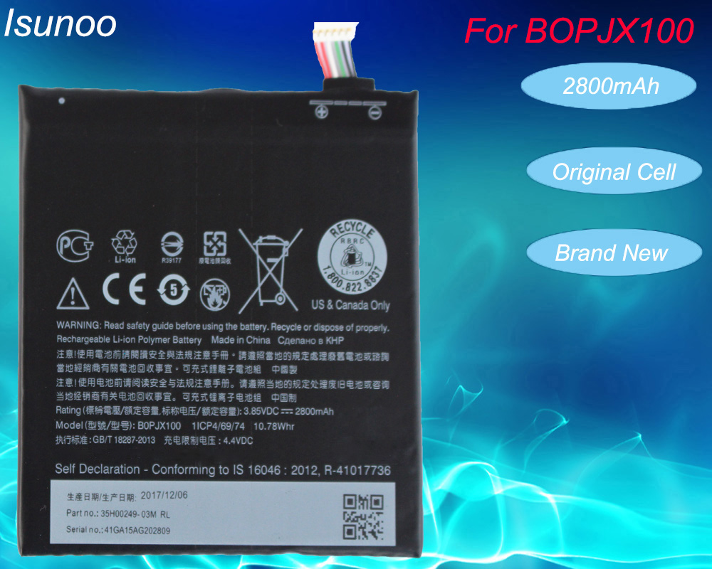 ISUNOO 2800mAh Battery For HTC DESIRE 728 D828 828U 828W E9 E9+ BOPJX100 Batteries With Repair Tools