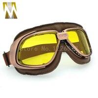 New Classic Bronze Vintage Harley Goggles Glasses For Open Face Helmet Retro Motorcycle Goggles Half Helmet