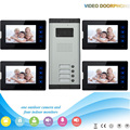 XSL-520*4-V70T2 1V4 XSL manufacturer  7 Inch night vision screen color video door phone with touch keys for villa apartments