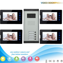 Xinsilu XSL-520*4-V70T2 7 Inch night vision screen color video door phone with touch keys for villa apartments