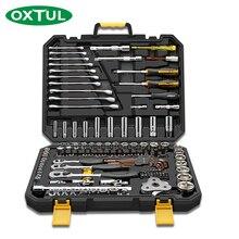 Ratchet 140 OXTUL ชิ้นมืออาชีพเครื่องมือซ่อมรถยนต์ชุดเครื่องมือประแจซ็อกเก็ต