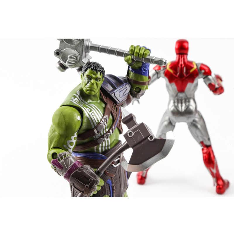 MK47 железные человеческие Мстители Endgame Марвел Халк Тор 3 Ragnarok руки подвижный боевой топор Гладиатор фигурка модель игрушки куклы дети