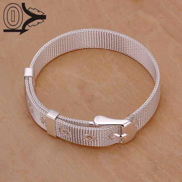 2016 New Arrival Silver Plated Bracelet,Wedding Jewelry Accessories,Fashion 10M Small Network Strap Bracelets Bangle Gift