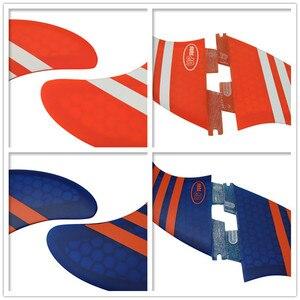 Image 3 - Surf FCS2 FINS G5 + GL ขนาดสีส้ม/Blue Honeycomb Surf FINS FCS II Tri Quad ชุดกระดานโต้คลื่น Fin FCS2 5 FINS ชุด