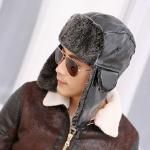 Bomber Hats Cap Earflap Russian Knitted Man Men for New Ski-Hat Ear-Protection Winter