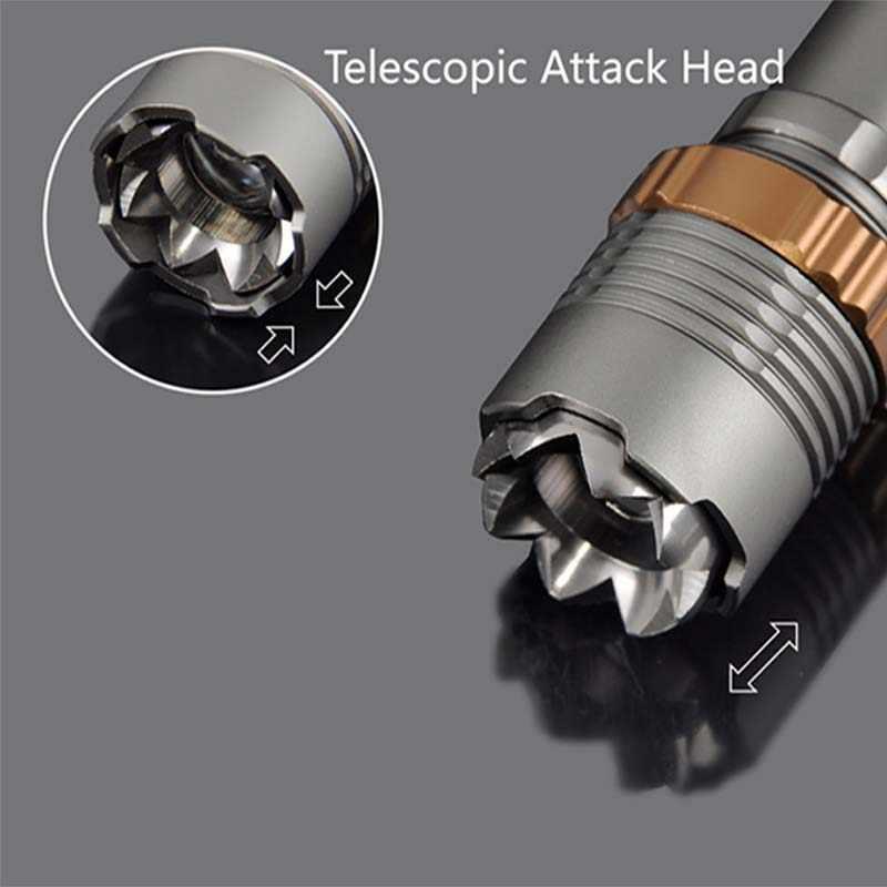 8000lm T6 LED el feneri Meşale şarj edilebilir fener Avcılık El Feneri 18650/AAA pil doğrudan şarj