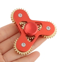 Kacakid 2017 New Metal Toothed Gearing Anti Stress Fidget Spinner EDC Toys Tri Hand Spinner For