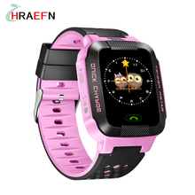 Smart Baby Watch Y21 2G GSM GPS Locator Tracker Children Kid Wristwatch Anti-Lost Smartwatch kinder gps tracker PK Q50 Q60 Q90