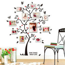 DIY Family Photo Frame Tree Wall Stickers Muslim Vinyl Stickers Wall Home Decor Bedroom Wall Decals Poster Wallpaper Mural Art(China)