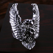 dd96fda21035 new Personality Vintage silver color Plated Flying Eagle Rings For Women Men  Jewelry Anel 1234(