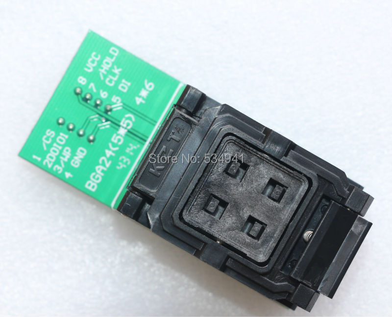 Image 4 - NEW ORIGINAL BGA24 to DIP8 BGA24 turn DIP8 programmer adapter 6*4MM+5*5MM Frame for W25Q54 TL866CS TL866A PEZP2010 2013 socket-in Integrated Circuits from Electronic Components & Supplies