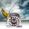 EA14 New Carretilhas de Pesca de Metal Carretel Centrífuga Gotas Rodada Rolamentos de Roda de Liga de Alumínio de Pesca Com Mosca