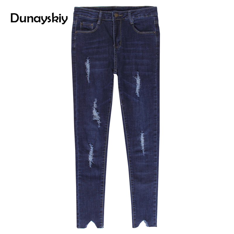 spring ankle-length jeans for women ripped slim skinny pencil pants bottoms fork denim vintage washed high waist casual trousers fashion brand women jeans high waisted denim jeans ripped trousers washed vintage big hole ankle length skinny vaqueros mujer