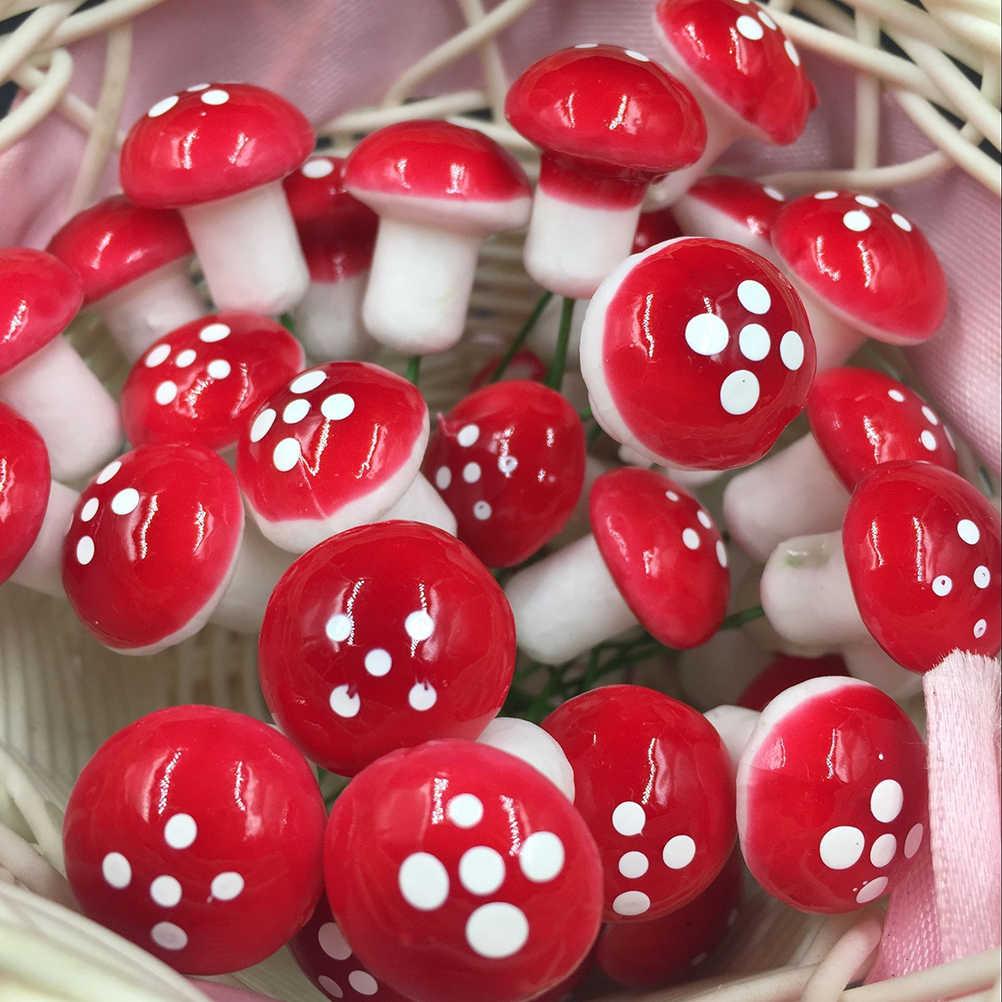 Mini Merah Jamur Kelinci Bebek Kura-kura Ornamen Taman Miniatur Tanaman Pot Fairy DIY Mikro Miniatur Taman Dekorasi