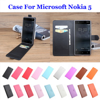 5 2 Litchi Leather High Quality For Microsoft Nokia 5 Phone Case Flip Covers For Microsoft