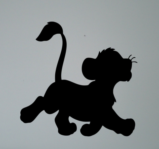 Simba Lion King Silhouette Wall Vinyl Sticker Retro