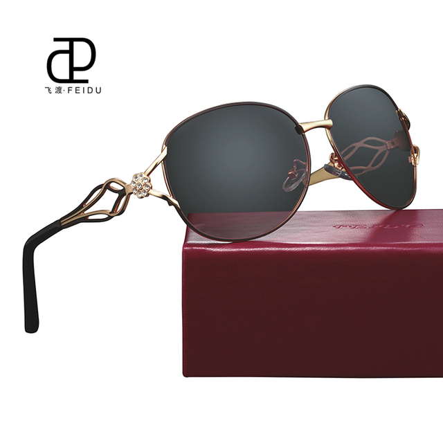 69c7252ae03 FEIDU New Brand Classic Women Polarized Sunglasses Vintage Gradient Lens Eyewear  Glasses Ladies Driving Female Oculos