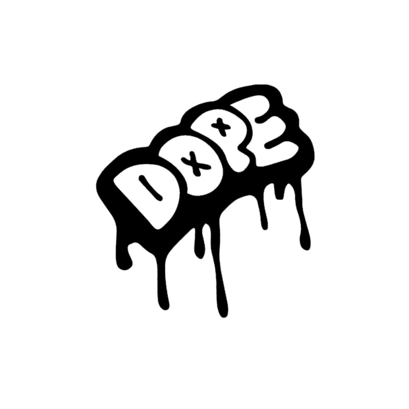 graffiti drip style dope truck jdm car styling car window