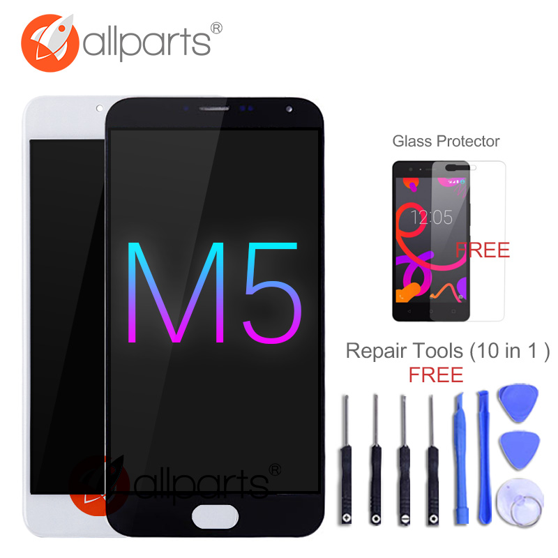 No Dead Pixels 5.2 Display For MEIZU M5 LCD Touch Screen Digitizer with Frame M611D M611H LCD For MEIZU M5 Display Replacement