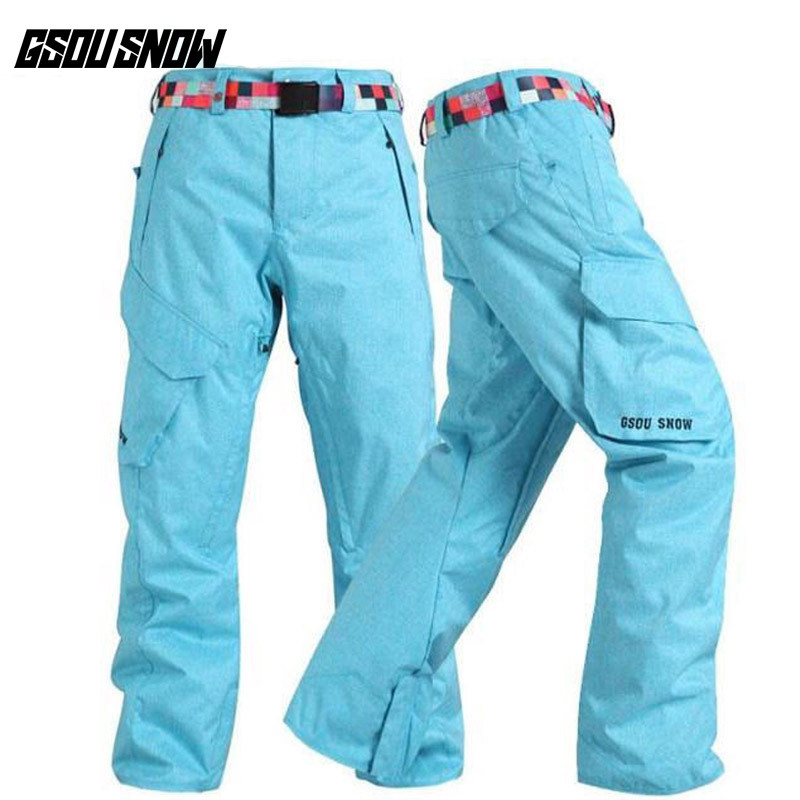 все цены на GSOU SNOW Brand Ski Pants Men Snowboard Pants Winter Skiing Snowboarding Snow Trousers Waterproof Windproof Warm Sports Clothes