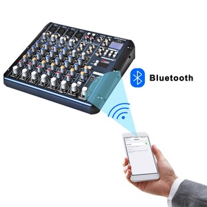Image 2 - Freeboss SMR8 Bluetooth USB Record 8 Channels (4 Mono + 2 Stereo) 16 DSP Church School Karaoke Party USB DJ Mixer