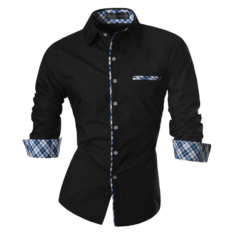 2019 pavasario rudens ypatybės marškinėliai vyrams laisvalaikio džinsų marškinėliai Naujas atvykimas ilgomis rankovėmis atsitiktinis Slim Fit vyriški marškiniai Z020