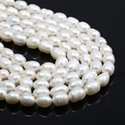 Natural Freshwater Pearl Beads High Quality 38cm Punch Loose Beads for DIY Women Elegant Necklace Bracelet Jewelry Making 7-8MM