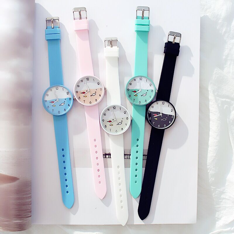 Candy Color Kids Watch Girls Clock Fashion Children Wristwatch Cartoon Kids Quartz Watch