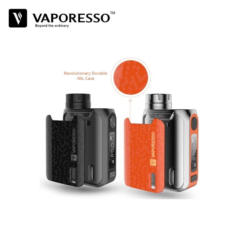 Vaporesso Swag Electronic Cigarette TC Mod 16850 Vape Box Mods Fit for NRG SE Tank Smok TFV8 Baby Atomizer vs Eleaf iStick Pico