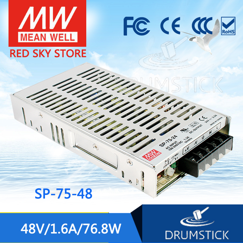 Advantages MEAN WELL SP-75-48 48V 1.6A meanwell SP-75 48V 76.8W Single Output with PFC Function Power Supply mean well usp 150 48 48v 3 2a meanwell usp 150 48v 153 6w u bracket with pfc function power supply