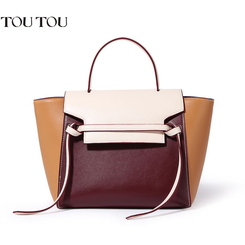 TOUTOU handbag fashion joker bump color brand women Wings bag shoulder bag Large-capacity bag Quality assurance free shipping big canvas handbag brand high quality large capacity shoulder bag 100% cotton leisure and travel bag for women contracted joker