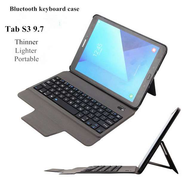 best service 9a2ac 6fff0 US $55.0 |MAORONG TRADING ultra thin portable Bluetooth keyboard protective  cover for Samsung Galaxy Tab S3 WIFI LTE 9.7 inch tablet -in Keyboards ...
