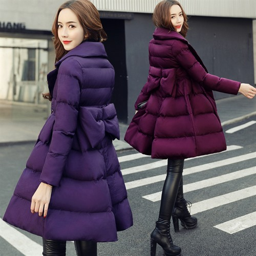 2017 Fashion winter sweet down wadded jacket medium-long a slim waist expansion bottom preppy style thickening thermal female those days free shipping 2015 new men england style fashion autumn winter thermal gentle yuppies slim casual wadded jacket down