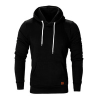 Fashion Men's Washing Sweatshirt 2019 Autumn and Winter Solid Color Cap Casual Long Sleeve Sweatshirt Jackets men moletom a50