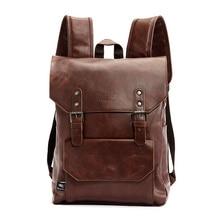 HOT Sell Brand Leather Men Vintage Backpacks Casual Daypacks Teenager L
