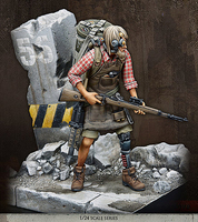Assembly Unpainted Scale 1/24 75mm future soldier find with base soldier Historical toy Resin Model Miniature Kit