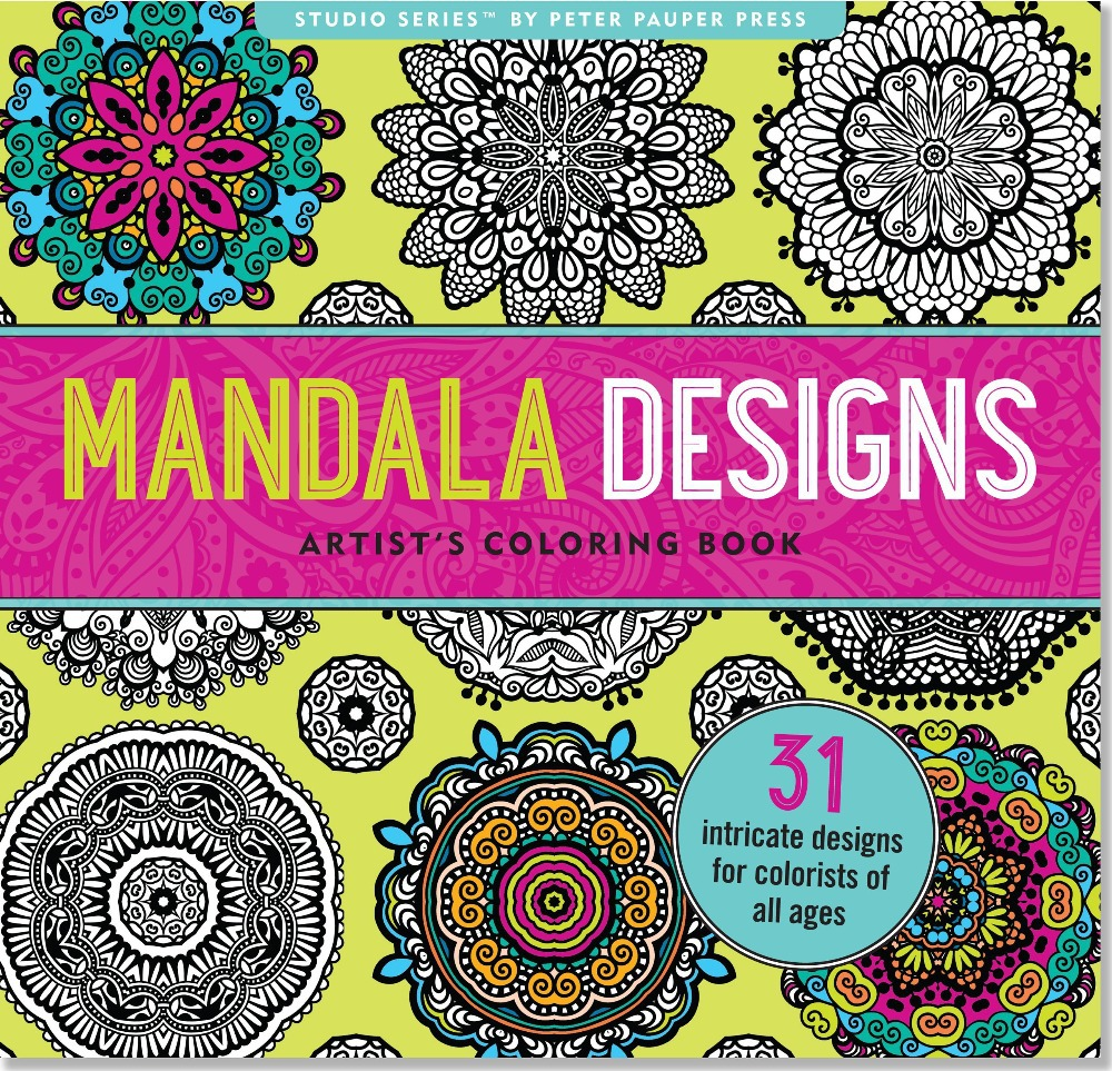 Mandala Designs Artists Coloring Book : Mandala Designs Coloring Book (31 stress relieving designs) (Studio) (English), Pencil Coloring ...