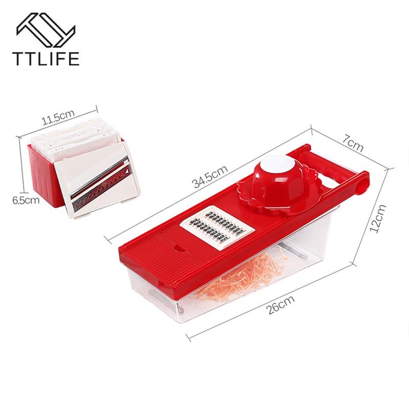TTLIFE Multifunktions-Gemüseschneider Mandoline Slicer Box mit 6 - Küche, Essen und Bar - Foto 5