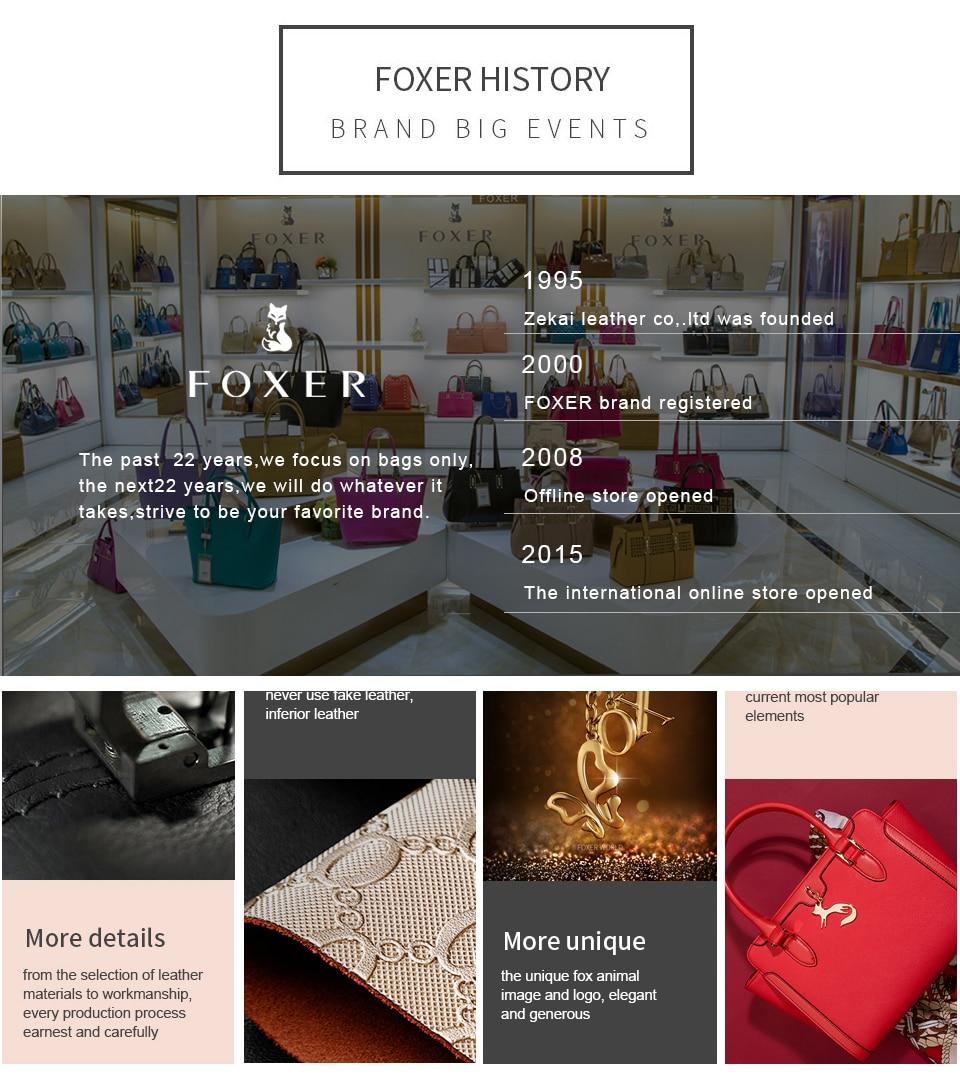 Foxer marca feminina bolsa nova moda divisão