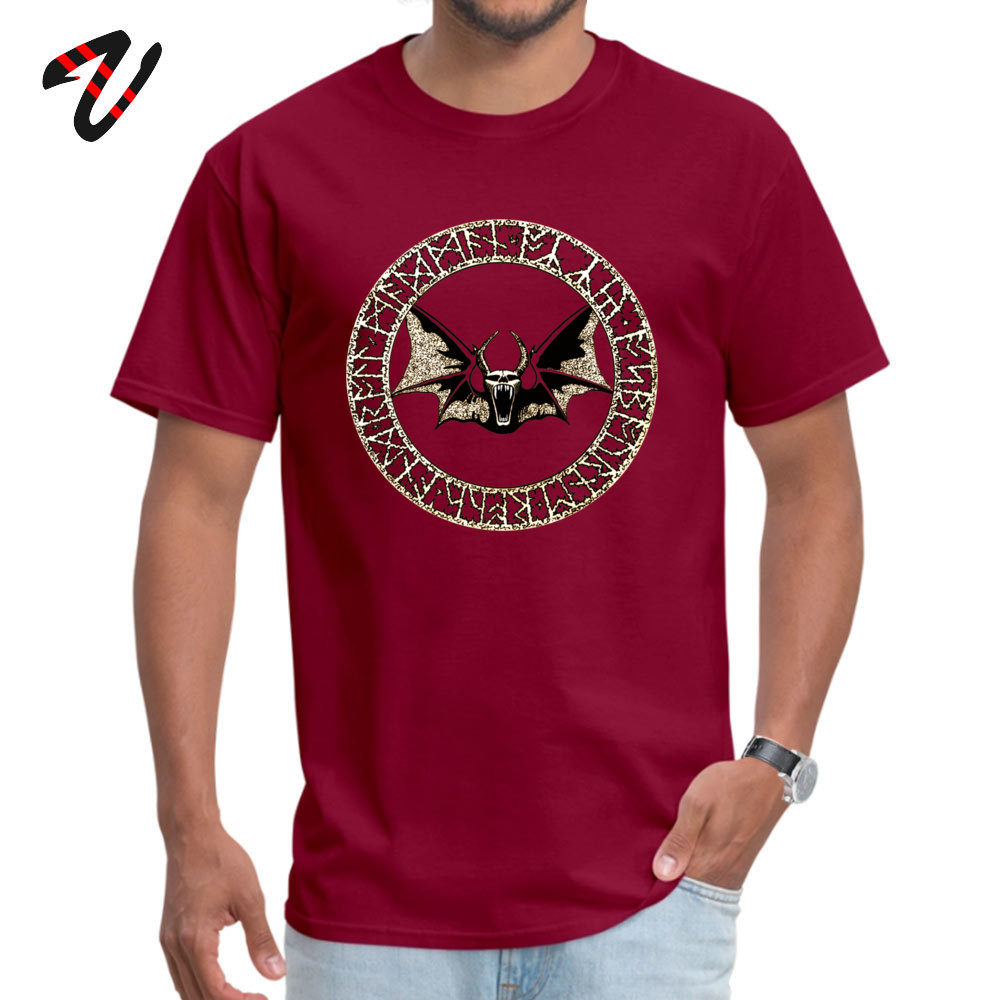 2019 New Fashion Male _black T-Shirt Ozzy Bat Orb Casual Tops Tees 100% Cotton Short Sleeve Design Tops Tees Crew Neck Ozzy Bat Orb 5118 maroon