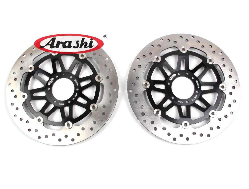 Arashi 1 Pair For HONDA CB400SF CB400 SF 2002 2003 2004 CNC Floating Front Brake Disc Brake Rotors Motorcycle Black arashi cnc rear brake disc brake rotors for honda cb250 cb400 cb500 cb500s 1991 2000 2001 2002 2003 2004 2005 2006