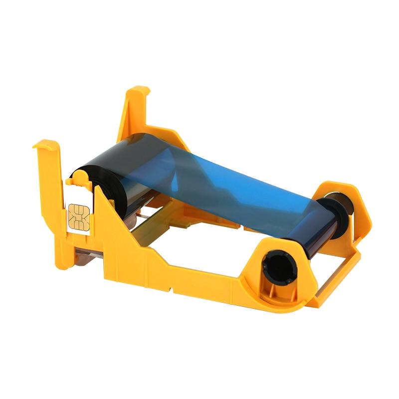 Printer Ribbon Compatible 800011-140 YMCKO 100 images Color Printing Ribbon for Zebra ZXP Series 1 PVC Card Printer evolis primacy plastic card printer r5f008saa ymcko color ribbon