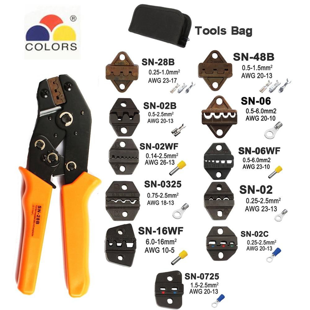 Crimpen Zangen Werkzeuge Sn-48b Für Tab 2,8 4,8 6,3/c3 Xh2.54 3,96 Pulg Rohr Insuated Terminals Elektrische Clamp Multi werkzeug 28b Kit In Den Spezifikationen VervollstäNdigen Handwerkzeuge