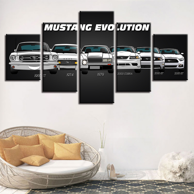 HD Decorative Modular Pictures Prints 5 Panel Cool Car Framework Wall Art Canvas Paintings For Living Room Modern Posters TYG