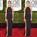 Мода черный Дженнифер Энистон знаменитости платья 2017 бретельках сексуальная разрез стороны red carpet платья горячие продажа