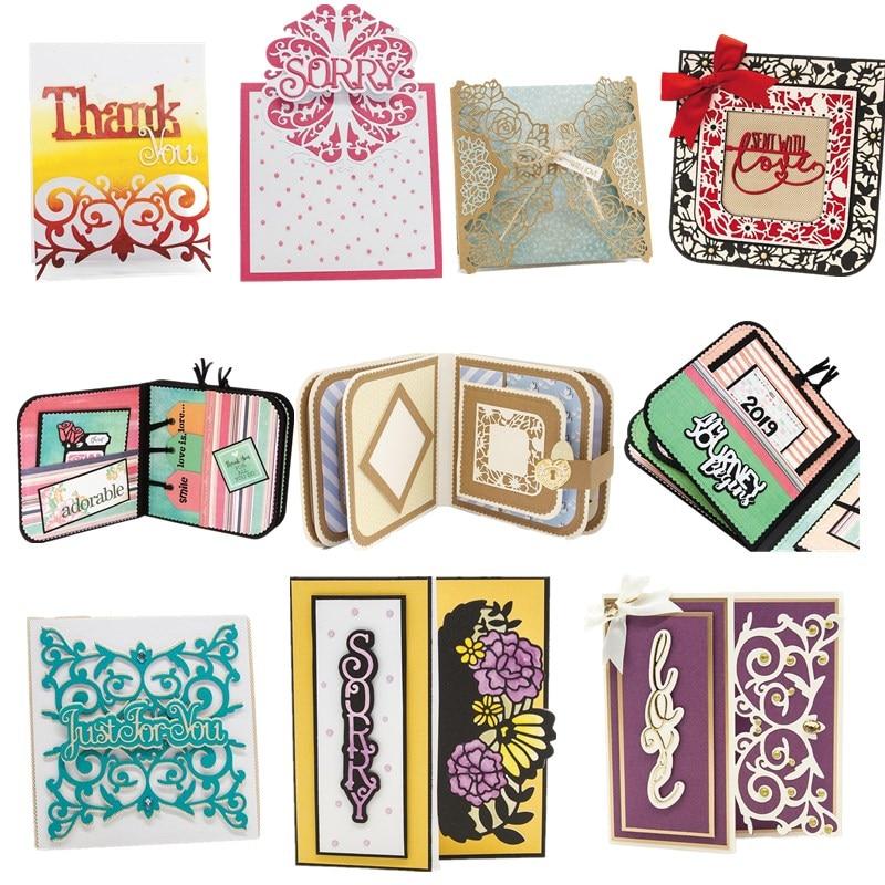 Pop-up Letters Flower Box Metal Cutting Dies Stencils For DIY Scrapbooking Decoration Embossing Supplier Handcraft Die Cut 2019