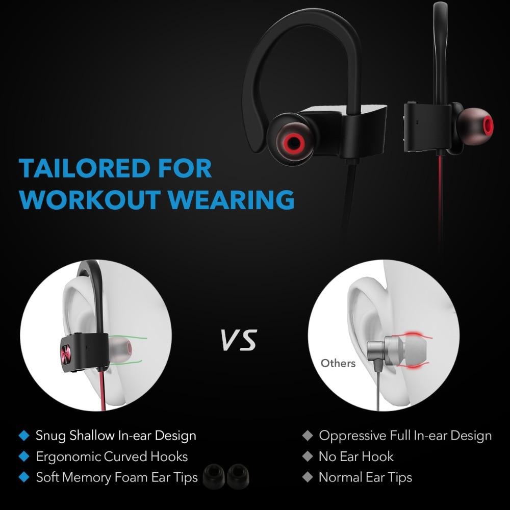 Mpow 088A Wireless Earphones Bluetooth Headphones with Mic Waterproof In-ear Sports Earbuds Noise Canceling Auricular Headsets (3)