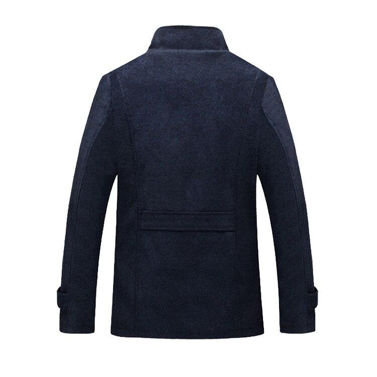 Mountainskin Winter Men's Coat Fleece Lined Thick Warm Woolen Coats Autumn Overcoat Male Wool Blend Jackets Brand Clothing SA607 7