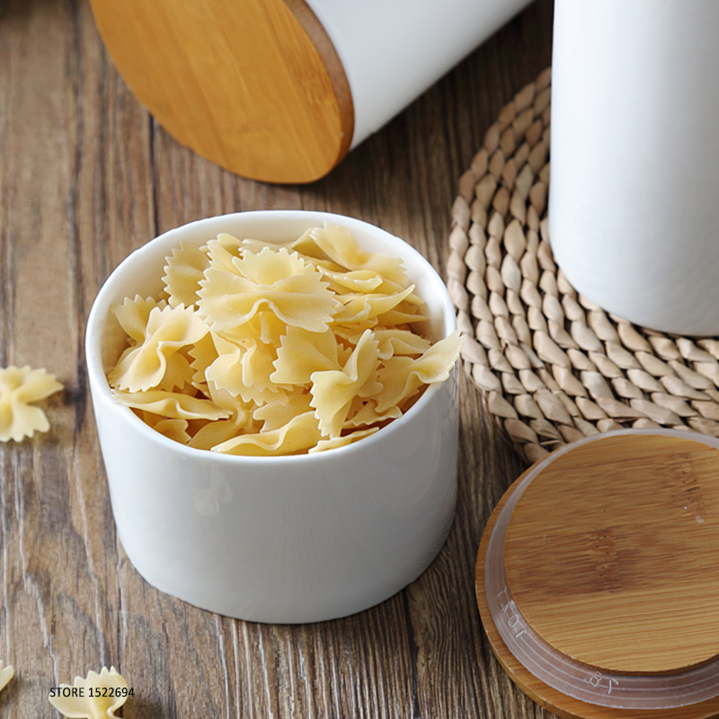 Home Porcelain Canisters Ceramic Jar Food Storage Self Sealing ...